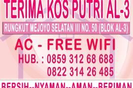 Kos Putri AC-Free Wifi-TV Cable