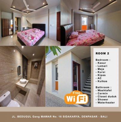 Kost Putri jalan Bedugul no.16 Gg. Mawar Sidakarya, Denpasar - Bali