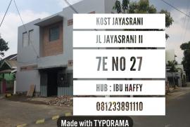 Kost Keluarga Jayasrani Sawojajar 2 Malang