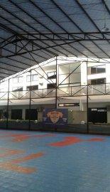 Huge sport hall on backside.