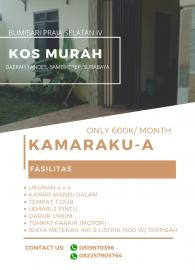 Kost Murah KAMARAKU Area Lontar, Sambikerep, Surabaya