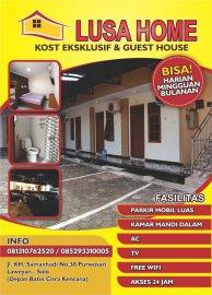 Lusa home syari'ah kost eksklusif dan guest house
