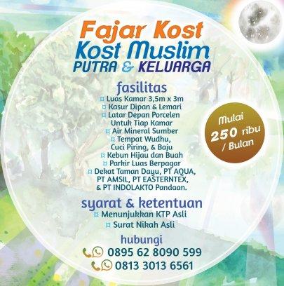 Fajar Kost - Kost Muslim Murah - Putra & Keluarga - Taman Dayu Pandaan