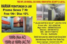 Harian & Bulanan free wifi indekost Jakarta Pusat